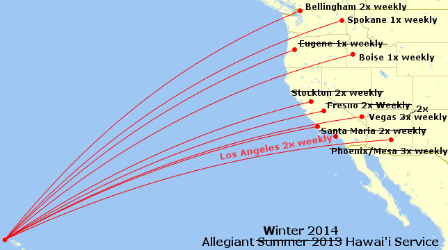 Allegiant Winter Schedule 2014