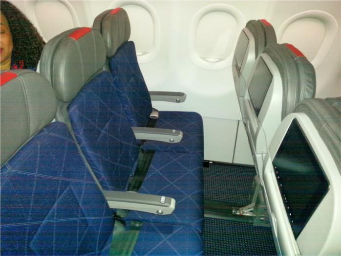 Row of A321 Transcon Coach