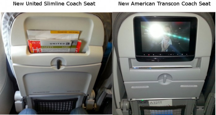 Compare United and American New Seats