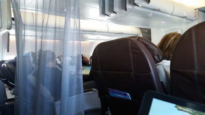 Divider Between First Class and Extra Comfort Hawaiian