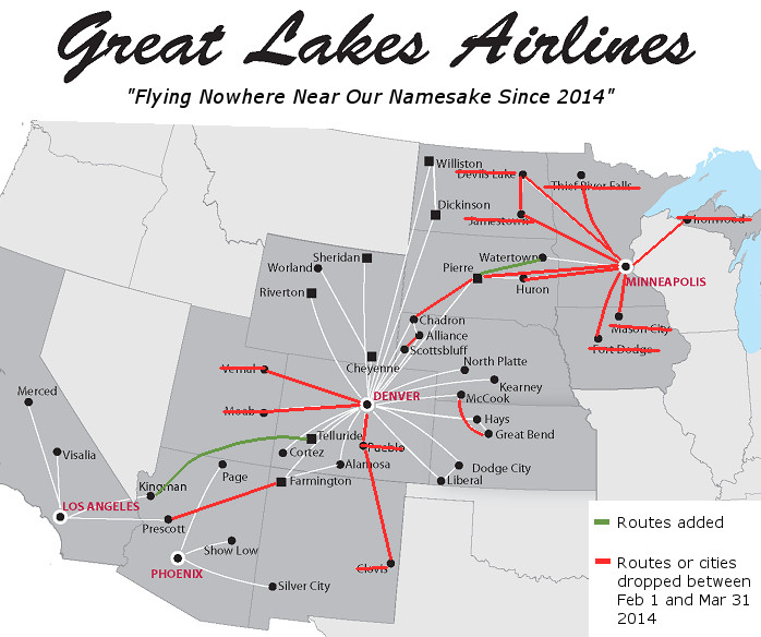 Great Lakes New Route Map