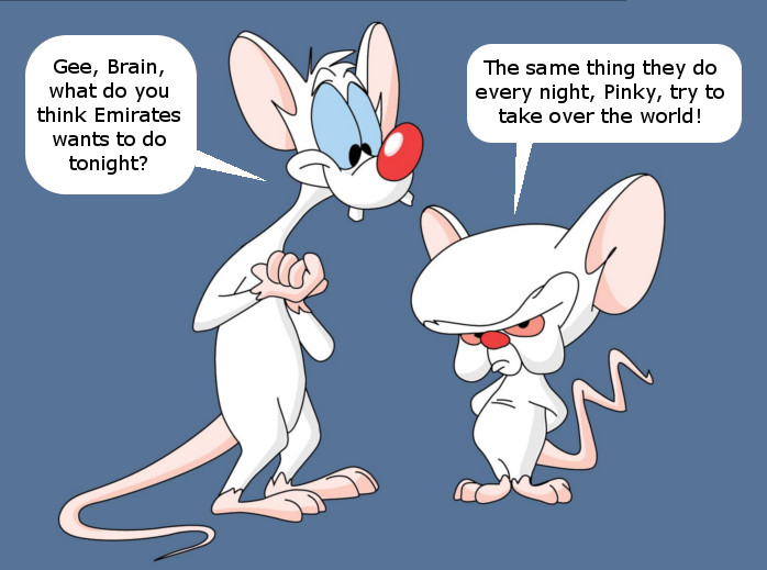 Emirates Pinky and the Brain