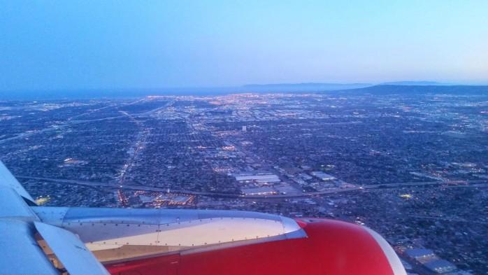 Virgin America Arriving Los Angeles