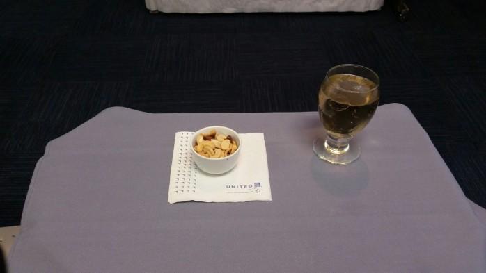 Nut Ramekin and Drink