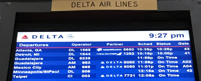 Delta Leaves Early