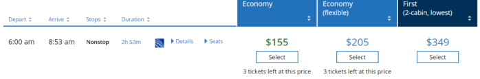 United Quietly Tests Selling Economy Plus as Part of the Fare