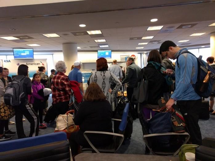 Boarding American LAX