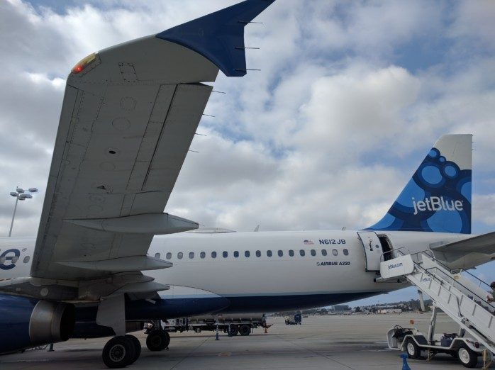 Boarding JetBlue from Back Long Beach