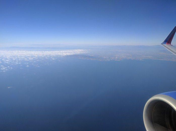 Over Orange County Ocean