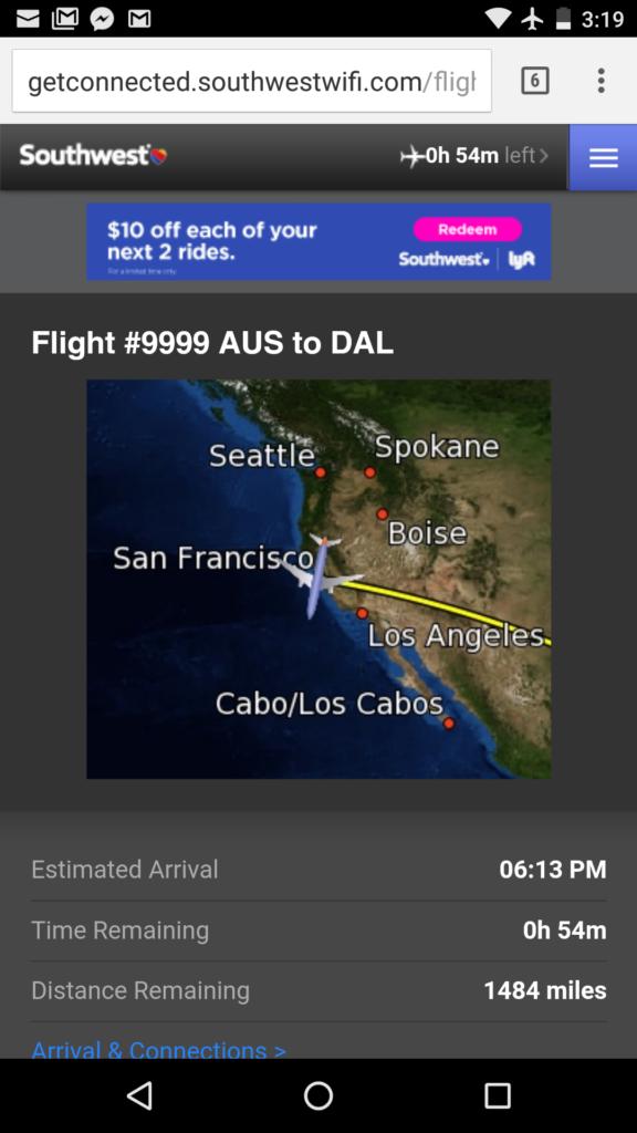 Wacky Flight Tracker Southwest