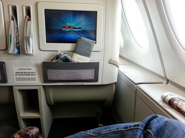Onboard Korean A380