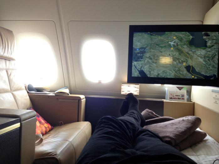 Etihad A380 Relaxing