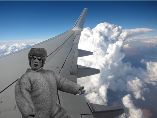 Shatner's Friend on Wing
