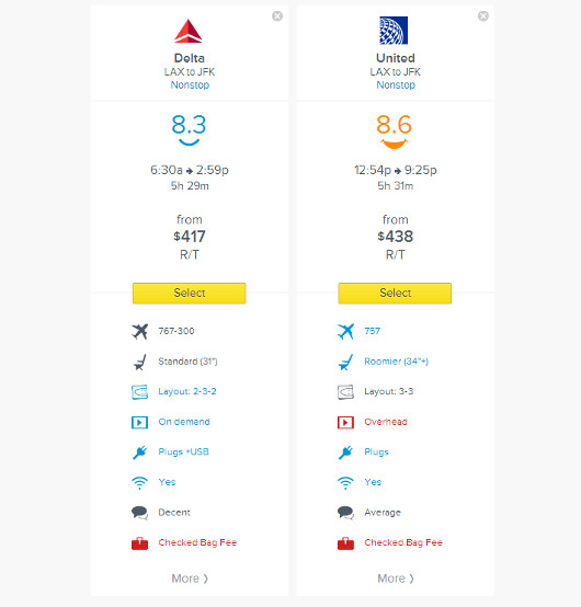 Routehappy Comparison Tool