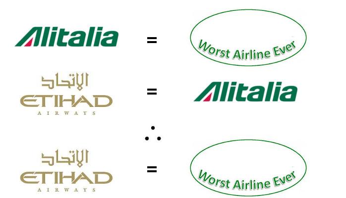 Etihad Worst Airline Ever Alitalia