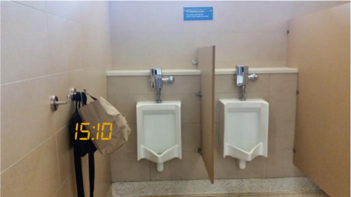 Bathrooms at San Jose Terminal B
