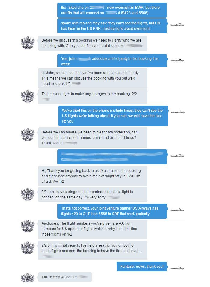 BA Twitter Conversation