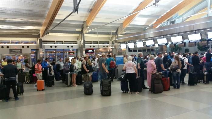 RDU Terrible Check In Lines US Airways