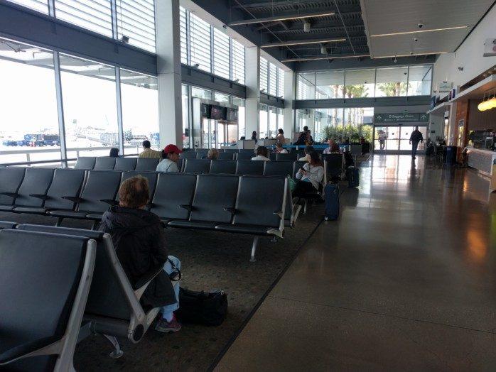 Empty Long Beach Gate Area