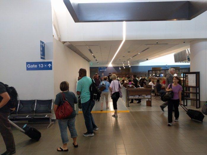LAX Terminal 1 Entrance to Gate 13